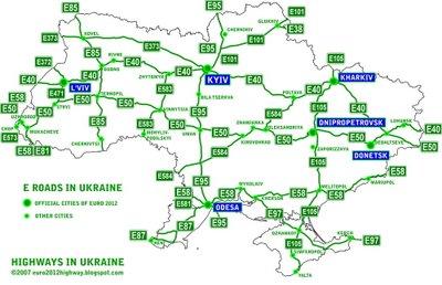 Маршруты по Украине