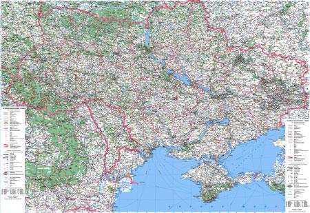 Подробная карта автомобильных дорог Украины