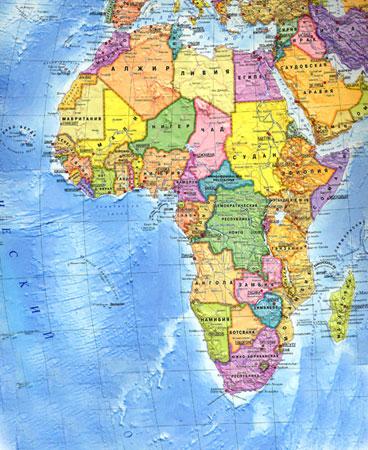 Политическая карта Африки