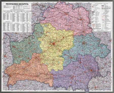 Подробная карта Белоруссии