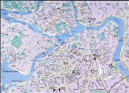 Большая карта Санкт-Петербурга