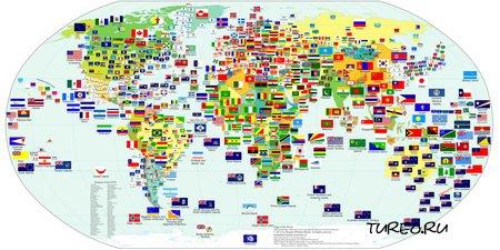 Флаги на карте